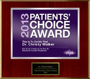 Dr. Christy Walker Patients' Choice Award 2013