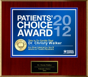 Dr. Christy Walker Patients' Choice Award 2012